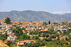 Mediterranean village in Cyprus Royalty Free Stock Photography