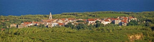 Mediterranean village on Island of Susak, Croatia Stock Image