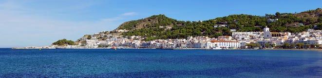 Mediterranean village panorama Stock Image