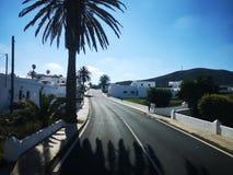 Mediterranean village road stock photo