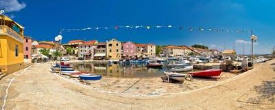 Mediterranean village of Sali panoramic waterfront Stock Photo