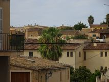 Mediterranean village Sineu at the heart of Mallorca. Ballears Stock Image