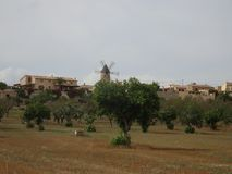 Mediterranean village Sineu at the heart of Mallorca. Ballears Royalty Free Stock Images