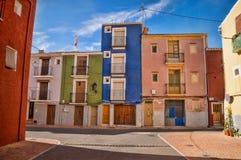 Mediterranean village street Royalty Free Stock Images