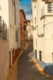 Mediterranean village street Royalty Free Stock Photos