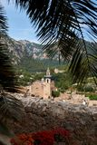 Mediterranean village in the Tramuntana mountains, view of Valldemossa, beautiful landscape of Majorca island Spain Stock Photo