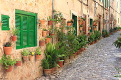 Mediterranean village of Valldemossa royalty free stock image