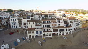 Mediterranean Village Vertical High Aerial Shoot stock footage