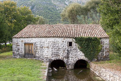 Mediterranean water mill Stock Photography