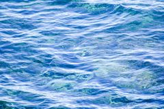 Mediterranean Water Texture. Blue Mediterranean Water Texture For Backgrounds stock image