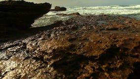 Mediterranean waves crashing. Video of mediterranean waves crashing stock footage