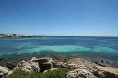 Mediterranean wild beach Royalty Free Stock Image