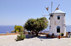Mediterranean windmill Stock Photos