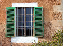 Mediterranean Window. Typical mediterranean window in a country house of Majorca (Spain Royalty Free Stock Image