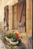 Mediterranean window boxes Stock Photography
