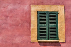 Mediterranean Wood Window Stock Image
