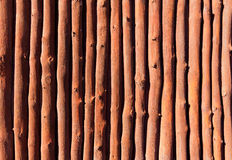 Mediterranean wooden trunks wall texture. In Majorca Royalty Free Stock Images
