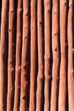 Mediterranean wooden trunks wall texture Stock Photo