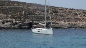 Mediterranean yacht Malta stock video footage