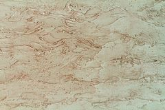 Mediterranean yellow wall texture. Background marble by the Vene. Tian plaster. Decorative grunge space Stock Images