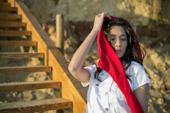 Mediterranean young girl Stock Photography