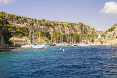 Mediterraneean cove. One of the coves on the mediterranean coast in Provence Royalty Free Stock Images