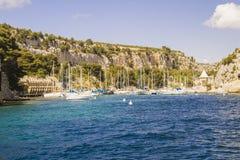 mediterraneean inham Royalty-vrije Stock Afbeeldingen