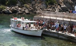 Mediterranen small ferry Royalty Free Stock Photos