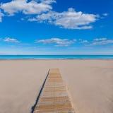 Mediterraneo della spiaggia di Alicante San Juan il bello Fotografie Stock Libere da Diritti