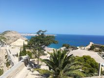 Mediterraneo. View from Alicante castle stock photography