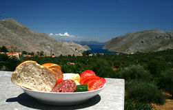mediterranian的饮食 库存照片