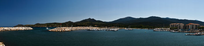 The mediterranian marina panorama Royalty Free Stock Photos