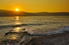 Mediterranian sea sunset, Italy Royalty Free Stock Photos