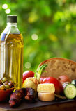Mediterranic food ingredients. Royalty Free Stock Photography