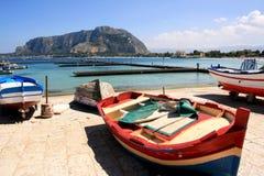 mediterrean海景西西里岛夏天 库存照片