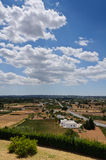 Mediterrean country and blue sky. South italian country  landscape. Apulia, Italy Royalty Free Stock Images