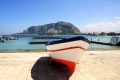 mediterrean seascape sicily Arkivfoton