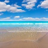 Mediterrâneo bonito da praia de Alicante San Juan Imagem de Stock Royalty Free