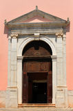 Mediterrranean Church Entry Doors Royalty Free Stock Photo