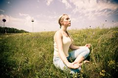 Meditieren Lizenzfreies Stockfoto