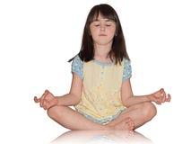 Meditieren Mädchen Lizenzfreie Stockbilder