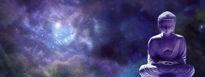 Meditierende Buddha-Netzuniversalfahne Lizenzfreies Stockbild