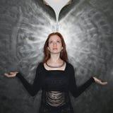 Meditierende Frau. Stockbilder