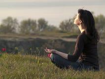Meditierende Frau Lizenzfreies Stockbild