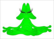 Meditierender Frosch lizenzfreie abbildung