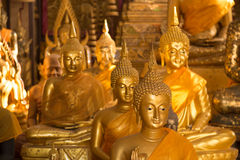 Meditierendes Buddhas Stockfotos