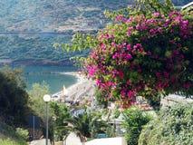 meditrannean海克利特海岛希腊海岸线风景  免版税库存照片