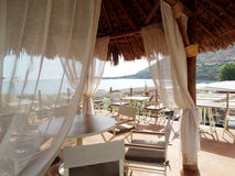 meditrannean海克利特海岛希腊海岸线风景  库存照片
