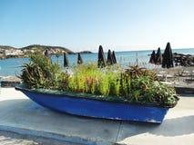 meditrannean海克利特海岛希腊海岸线风景  库存图片