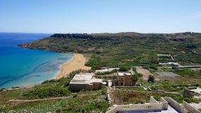 Meditteranean-Landschaft mit Strand Lizenzfreie Stockfotografie